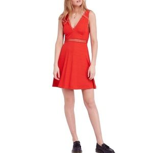 Free People King of My Heart mini dress in red